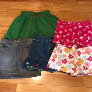 Girls Gymboree lot of skirts size 8 EUC